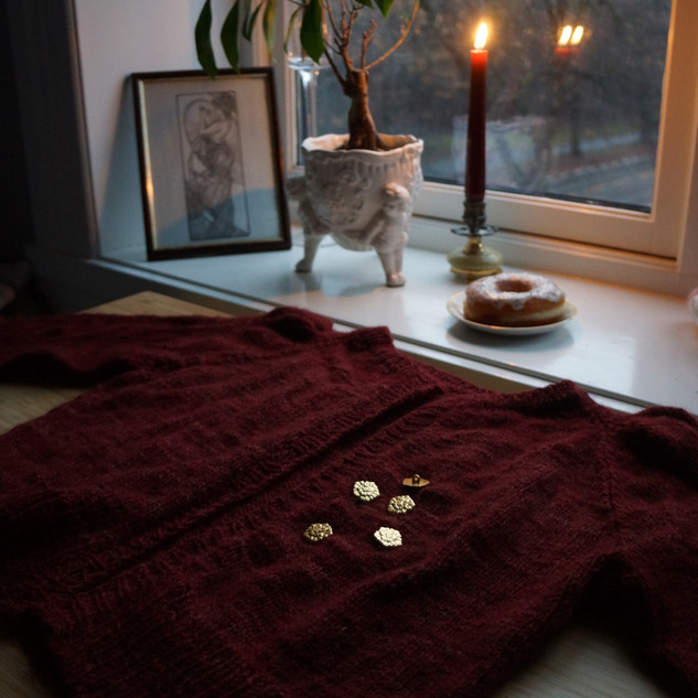 "Minerva Cardigan in Ask ""Wizards Robes"""