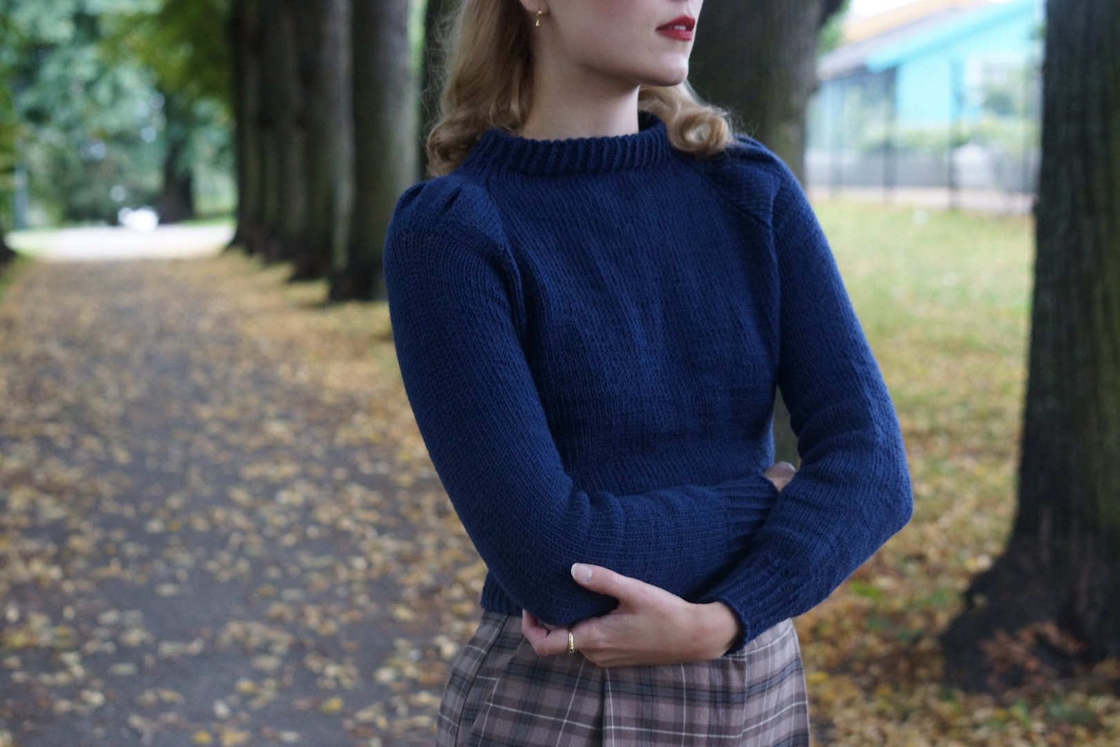 Diagon Alley Jumper knit in Pickles Soft
