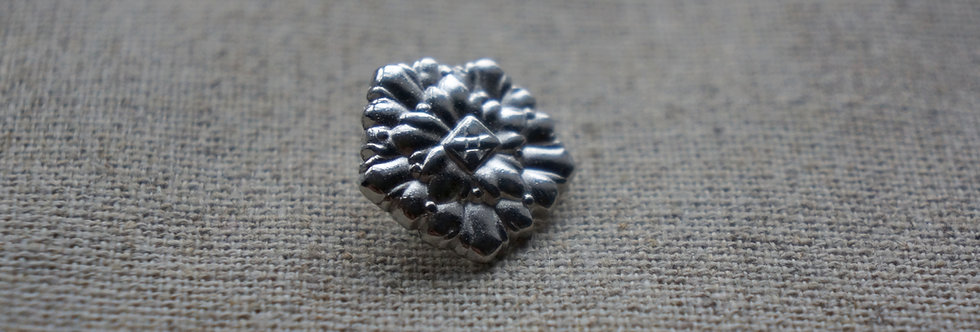 Fabel Rose Button - Silver