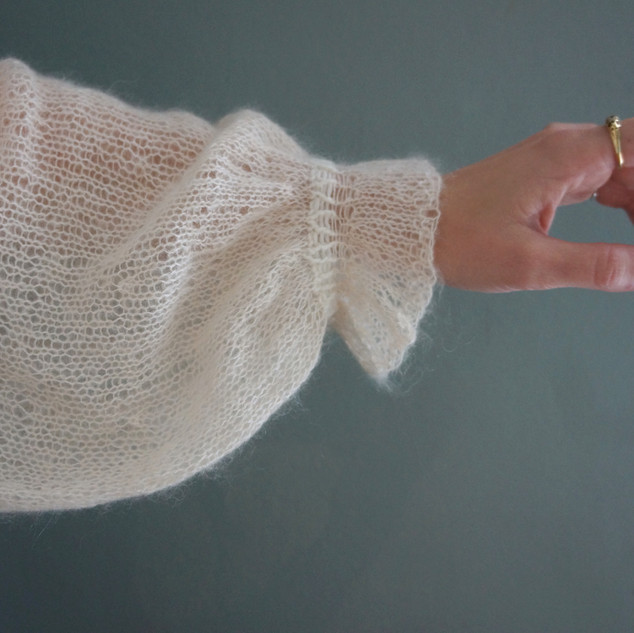 Owlery Blouse in Pickles Pure Wool and Pickles Silk Mohair