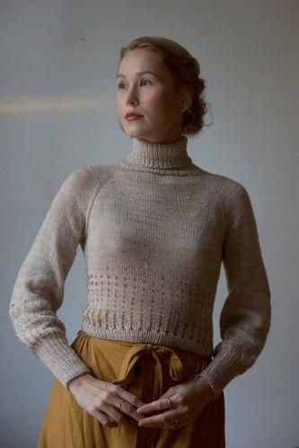"Ollivanders knit in Athena ""Fleur"" and ""Goldthorn"""