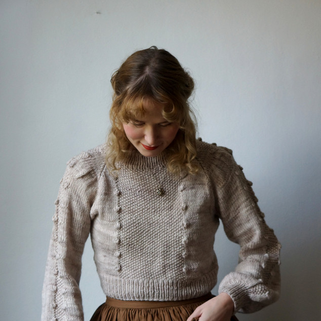 "Nutcracker Jumper knit in Elder ""Fleur""."