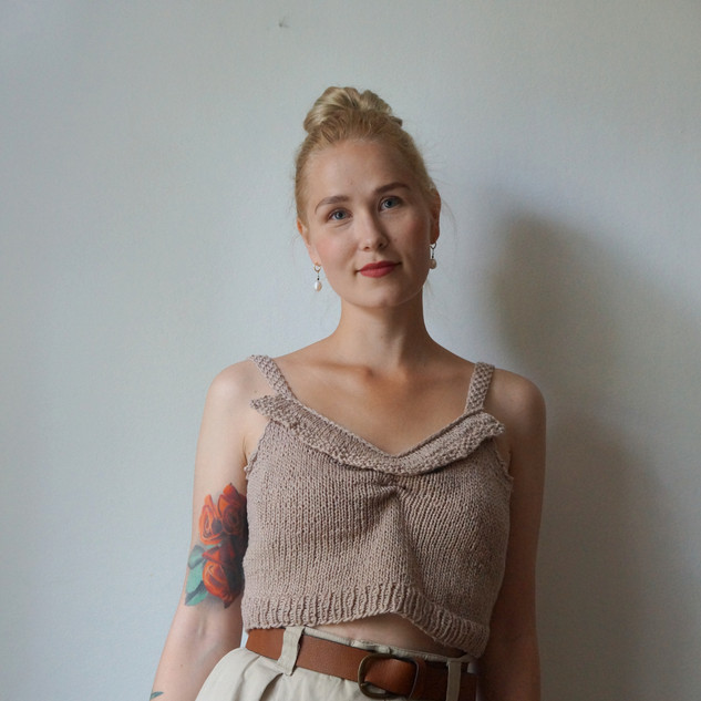 Hedwig Tank knit in Pickles Økologisk Bomull