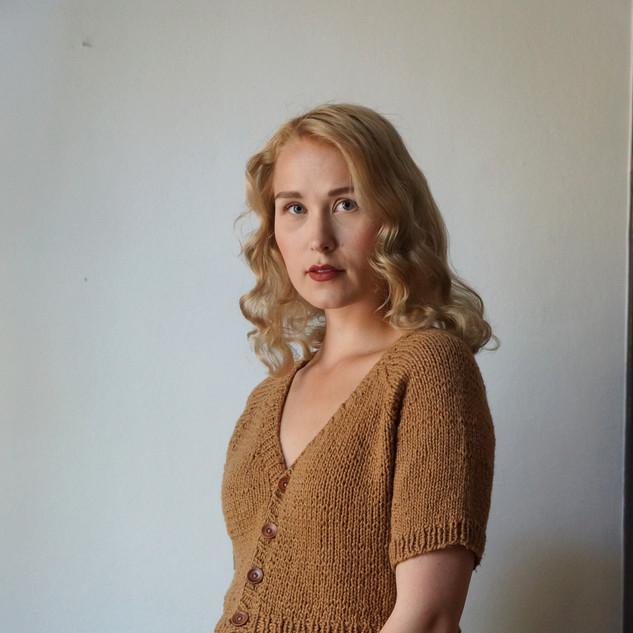"Ginevra Tee knit in Pickles Økologisk Bomull, colour ""Hazel"""