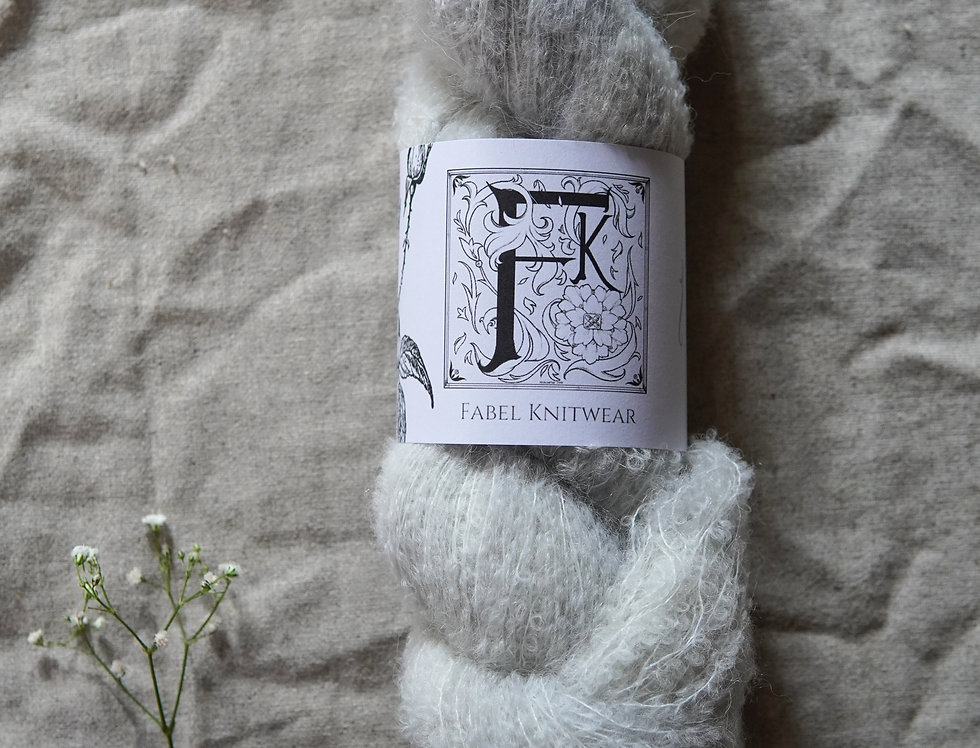Bouclé - Pearly Grey Ghost