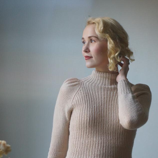 Rowena Jumper knit in Pickles Soft Merino.