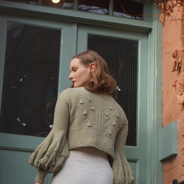 Sylphide Jacket knit in Pickles Merino Tweed