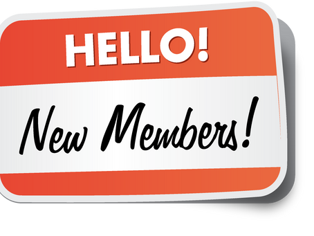 New Member Update July 15th, 2019
