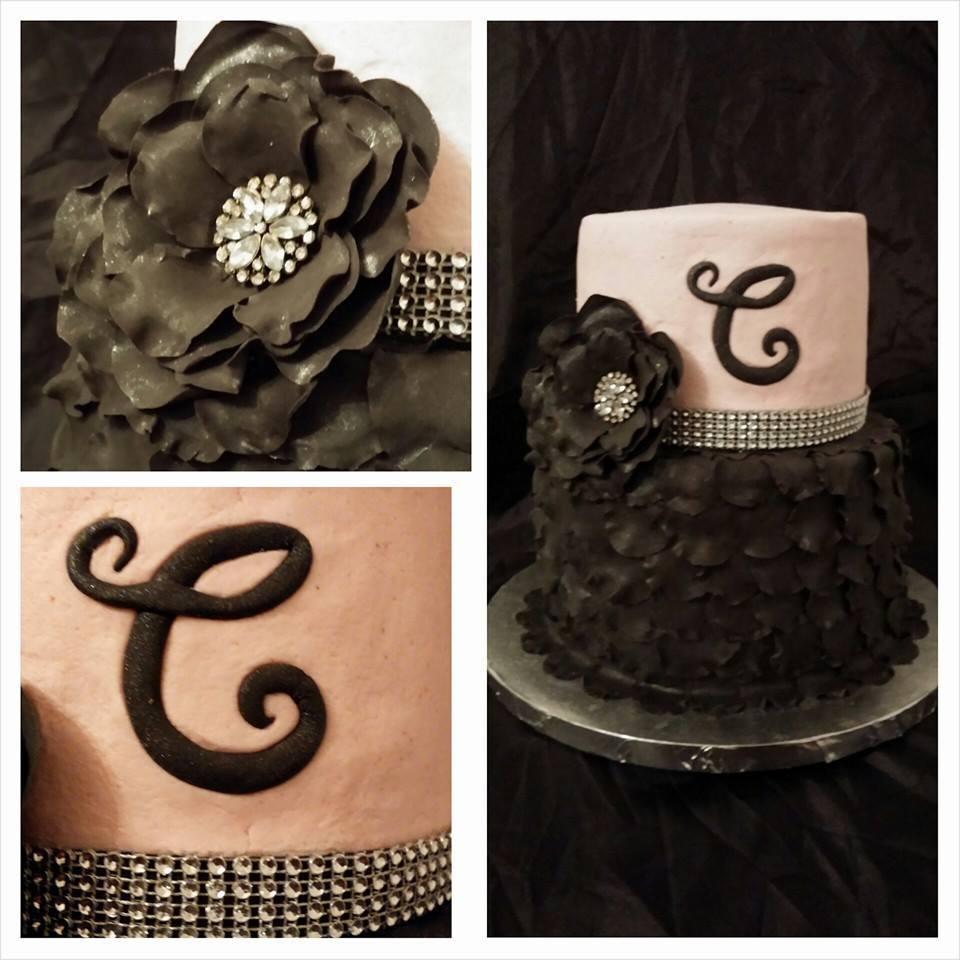 Black and pink petal cake.jpg