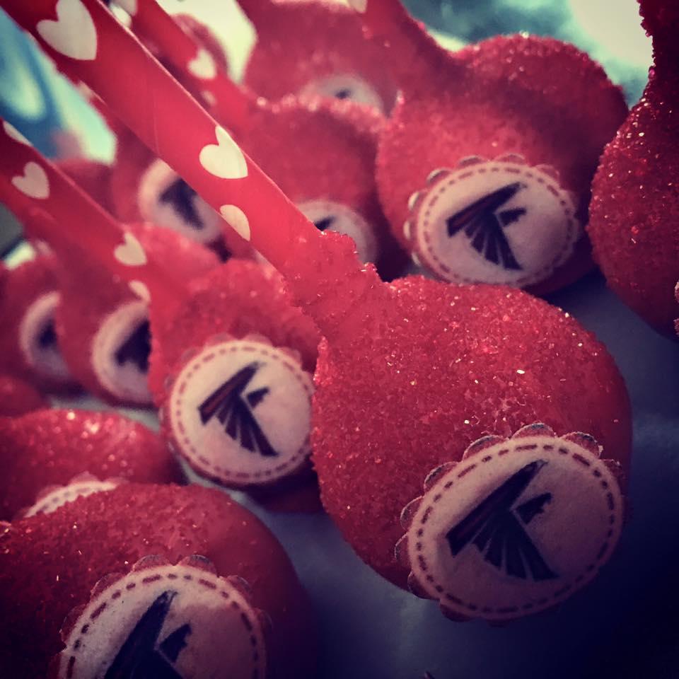 ATL Falcons cake pops