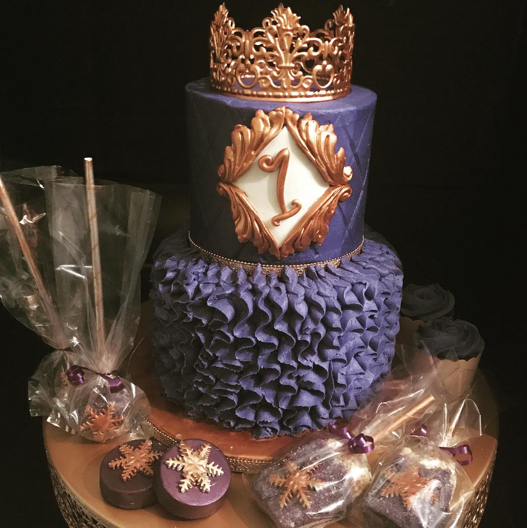 purple crown cake
