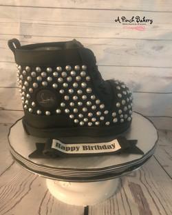 studded shoe cake