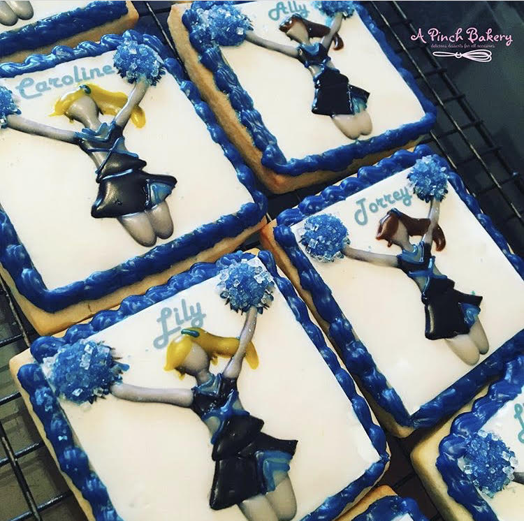 cheerleader sugar cookies