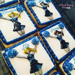 cheerleader sugar cookies