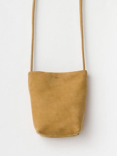 Çapraz Askılı Orta Boy Deri Çanta / Bal Sarısı