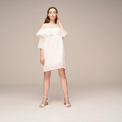 Robası Dantel Geniş Kalıp Elbise