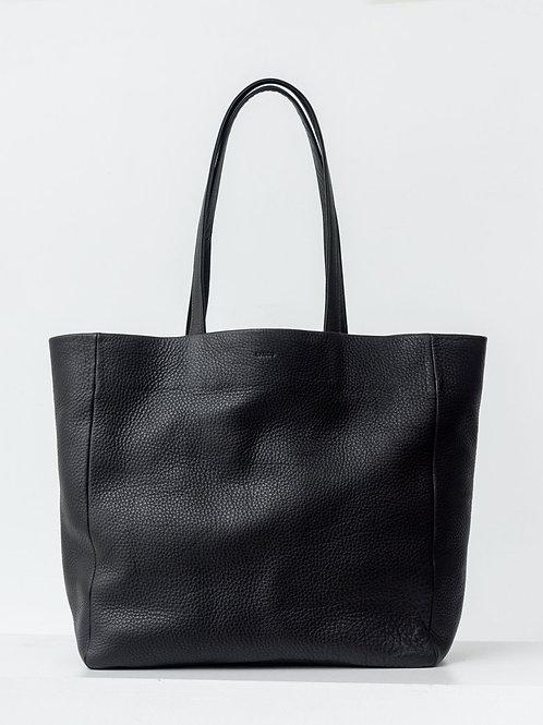 Büyük Boy Askılı Deri Çanta Siyah