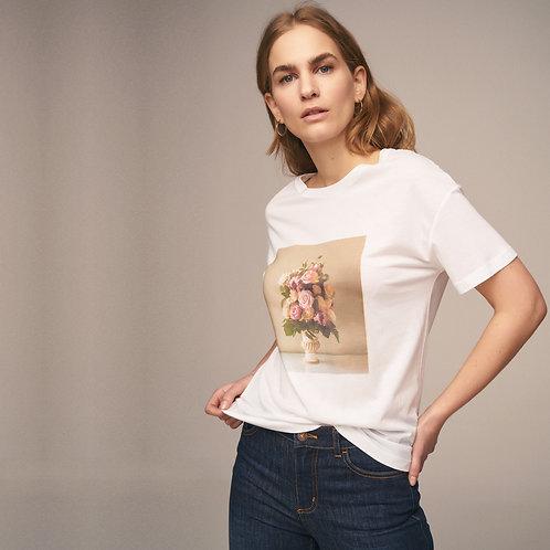 Önü Baskılı Geniş Kalıp T-Shirt