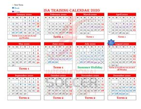 ISA Training Calendar 2020