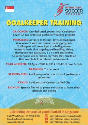 Goal Keeper training is back....
