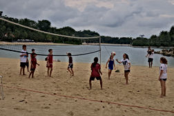 Soccer Camps for kids on the beach