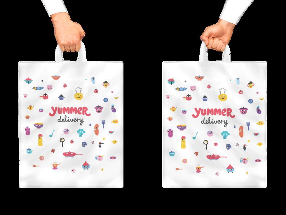 Yummer plastic bag