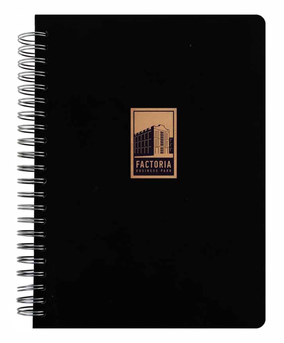 Factoria notebook black cover