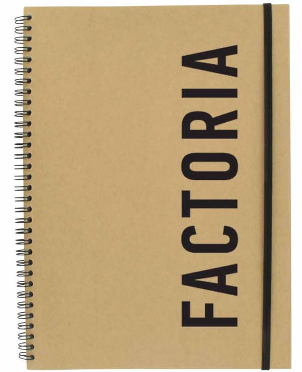 Factoria notebook mockup