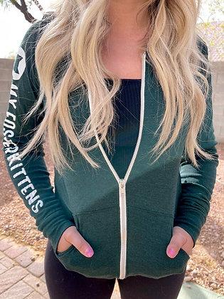 Emerald Green myfosterkittens Sleeve Hoodie