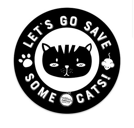 Save Cats - Round Sticker