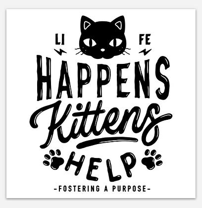 Kittens Help Sticker