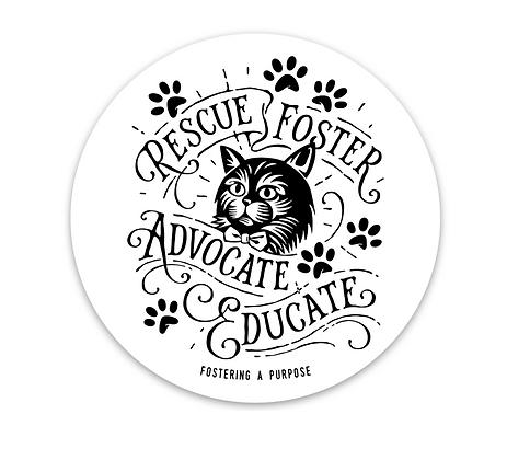 Vintage Cat Sticker