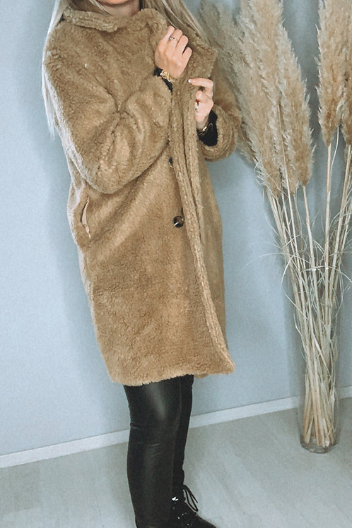 Manteau Teddy Camel