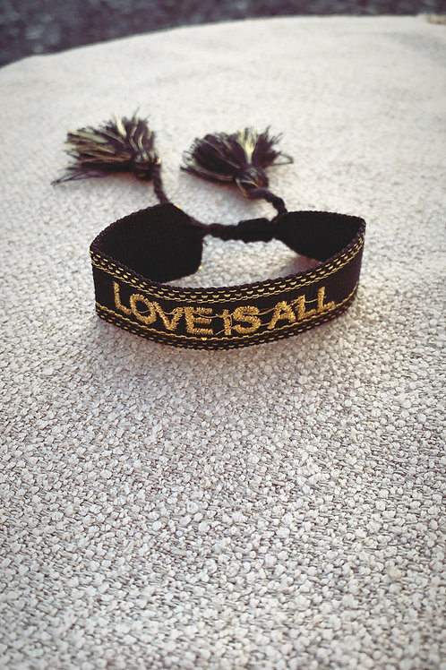 Bracelet Love is all noir