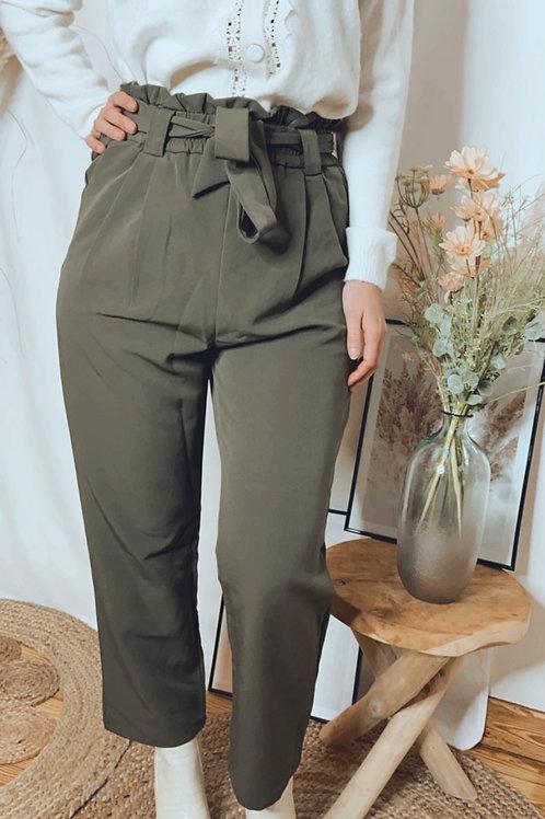 Pantalon Lucie kaki