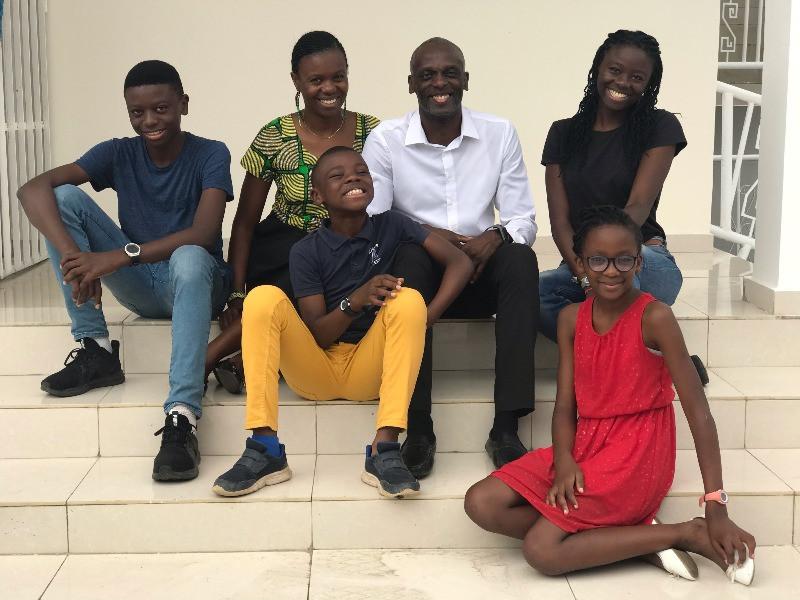 Bemba avec sa famille