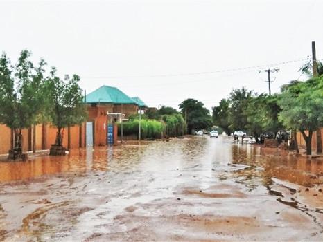 La pluie dans un pays aride...