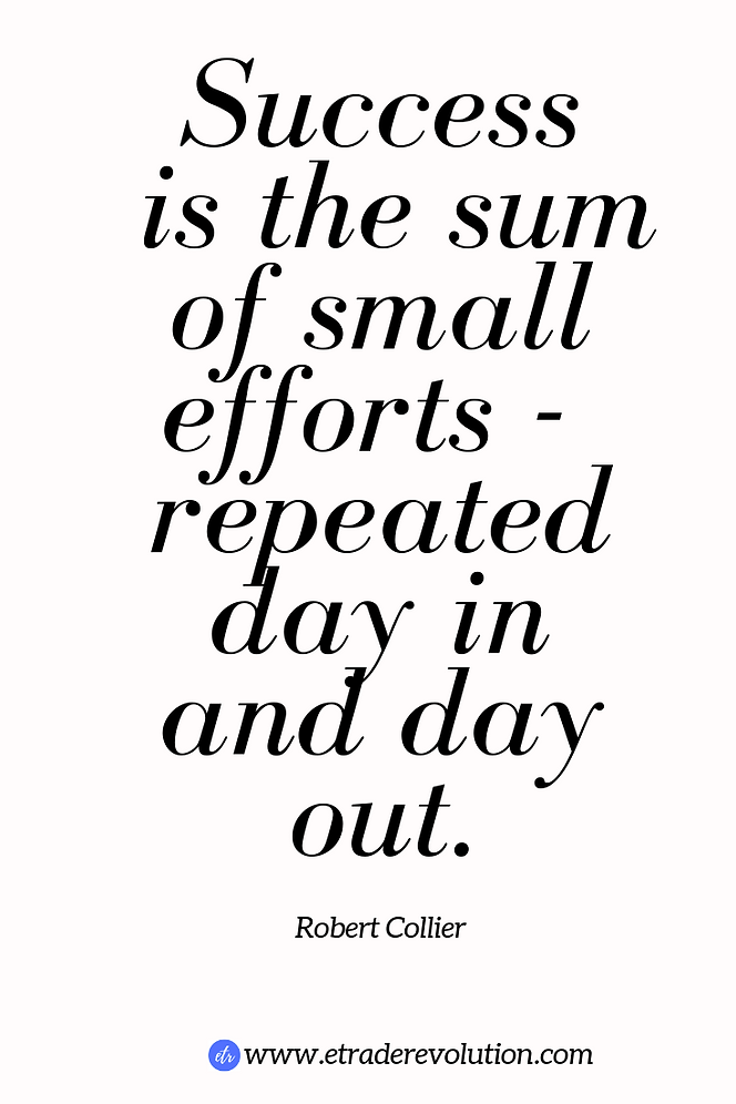 Success is the sum of small efforts - repeated day in and day out-Robert Collier