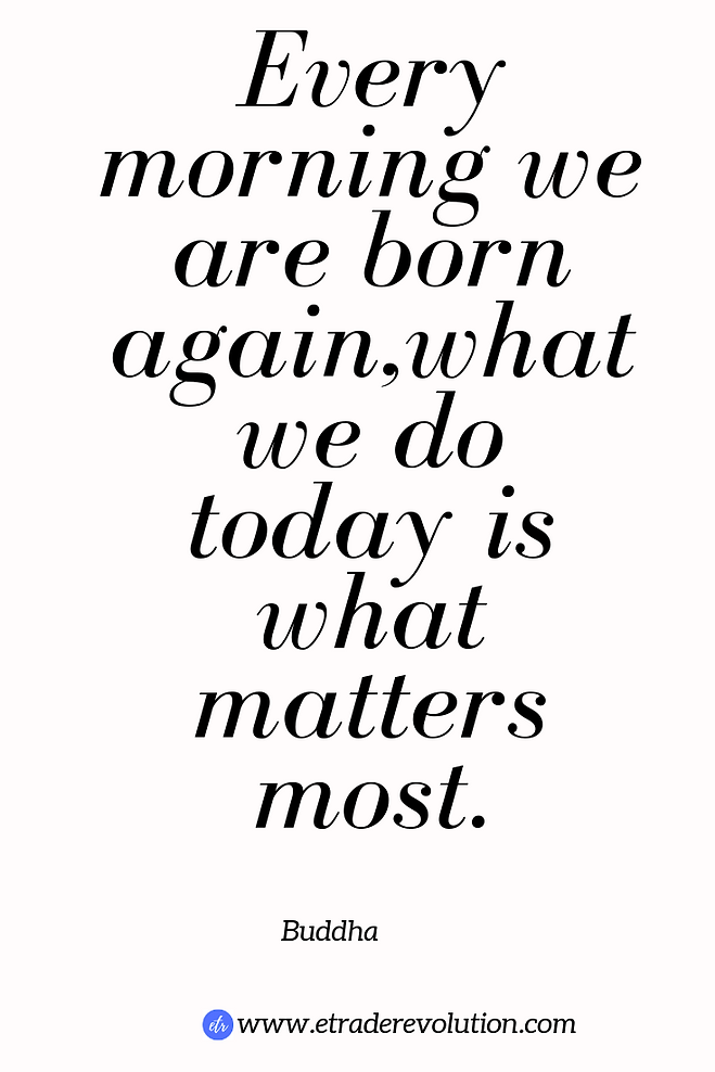 Every morning we are born again what we do today is what matters most