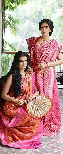 popular tussar banaras silk saree