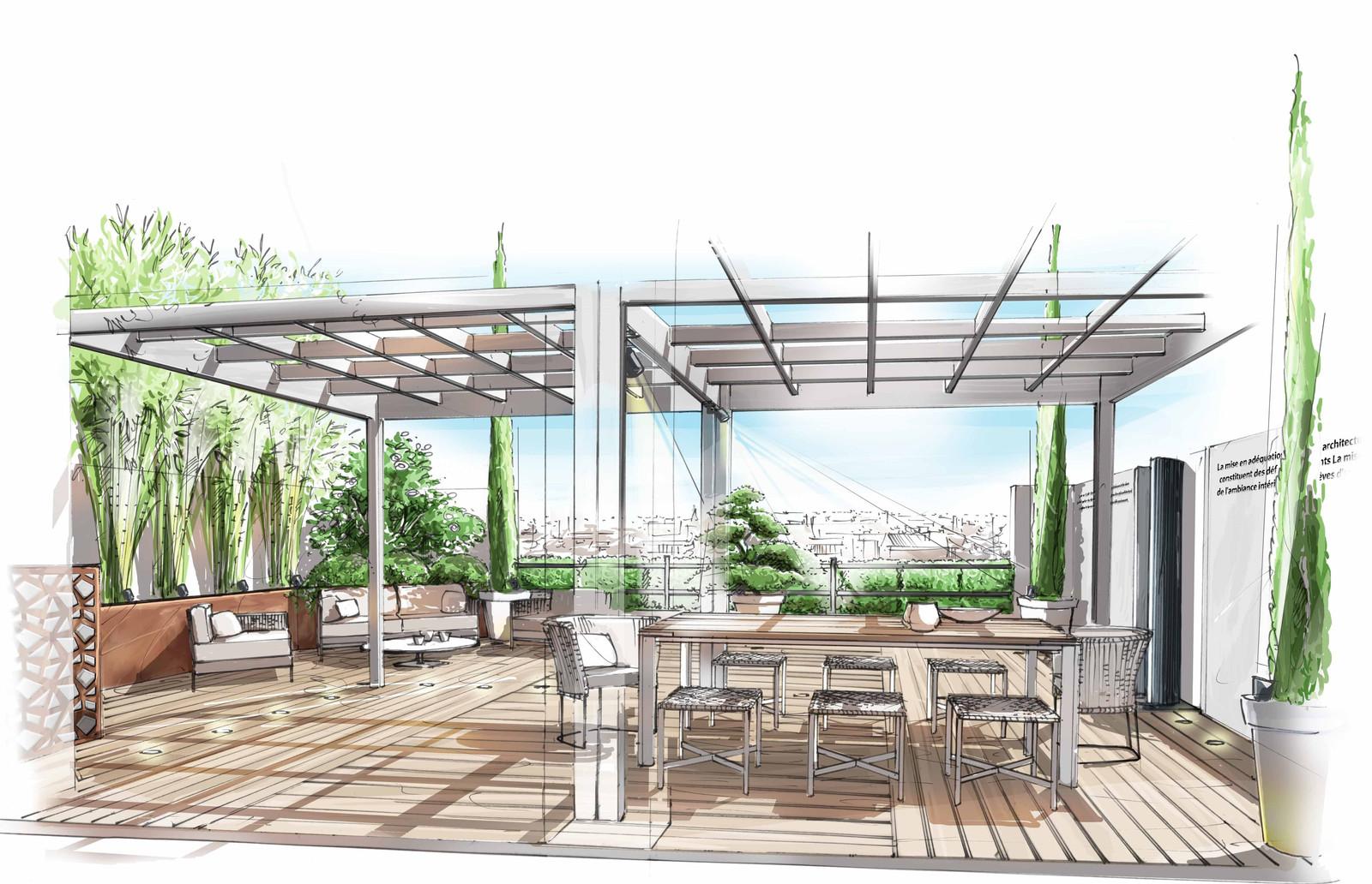 etudes architecte paysagiste paris sc nes d 39 ext rieur. Black Bedroom Furniture Sets. Home Design Ideas