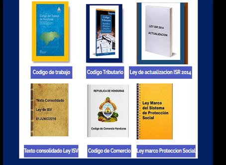 Leyes y códigos vigentes de Honduras