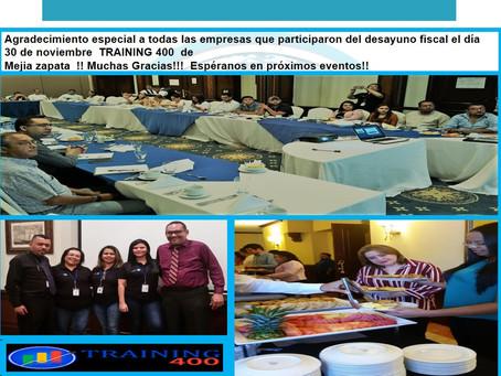 GRACIAS POR PARTICIPAR EN EL PROGRAMA TRAINING 400