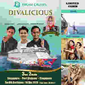 pakej cruise Aiman Tino , Suffian Suhaimi dan Asad Motawh Genting Dream Cruise