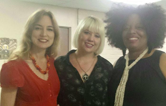 Hope Demetriades, wonderful Jessica Kubel of YWCA, and lovely Monika McMillan.