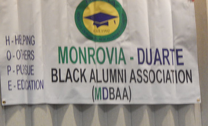 Love the H O P E acronym for the Monrovia Duarte Black Alumni Association!