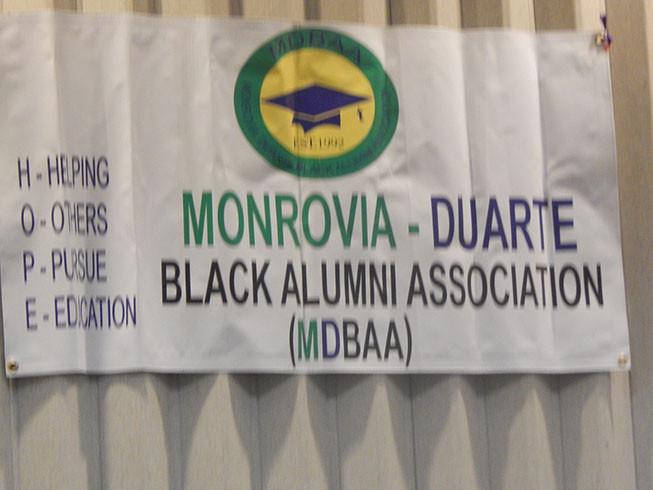 Love the H O P E acronym for the Monrovia Duarte Black Alumni Association!