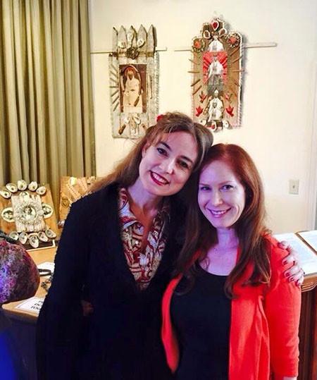 Hope Demetriades with dear friend and editor Michele Raphael.