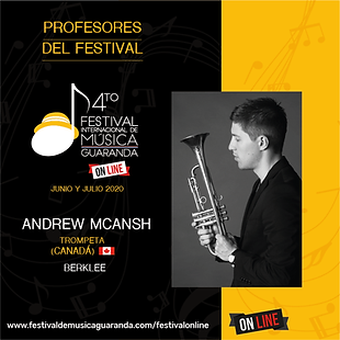 Andrew McAnsh trompeta festival Guaranda