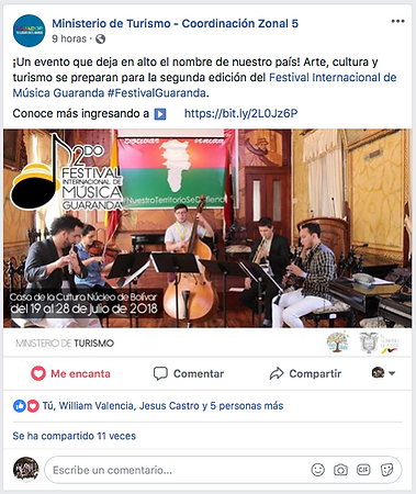 Ministerioa de turismo Ecuador festival Guaranda
